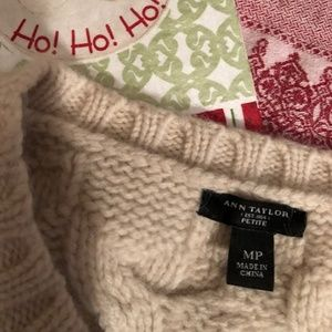 Ann Taylor Sweaters - Ann Taylor Womens Wool Sweater with Pearl Accents